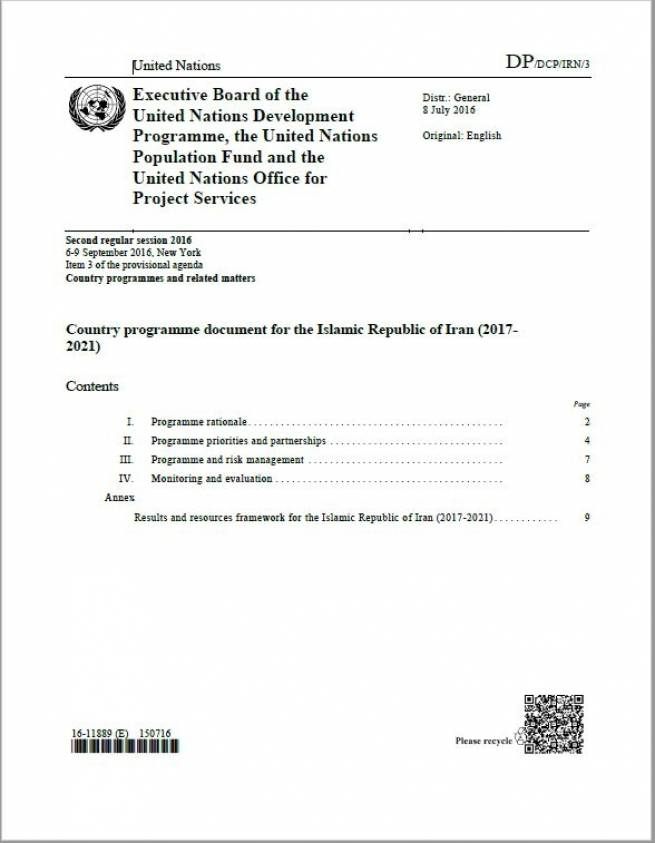 UNDP Country Programme Document for the Islamic Republic of Iran (2017- 2021) - EN
