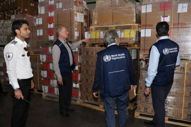 WHO airlifts medical supplies to people affected by the floods in Islamic Republic of Iran
