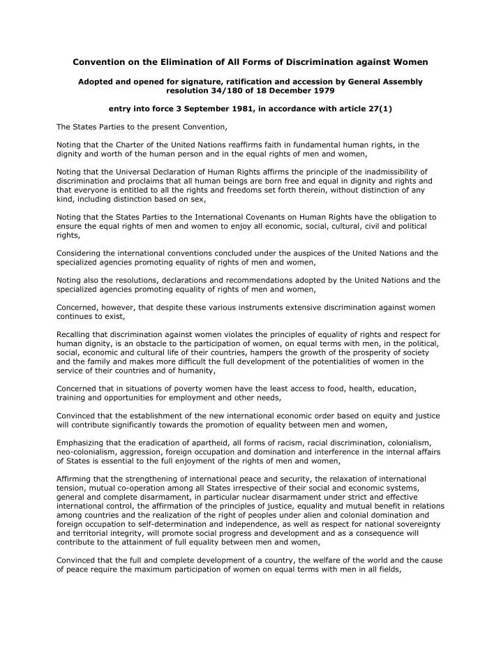کنوانسیون رفع هر گونه تبعیض علیه زنان