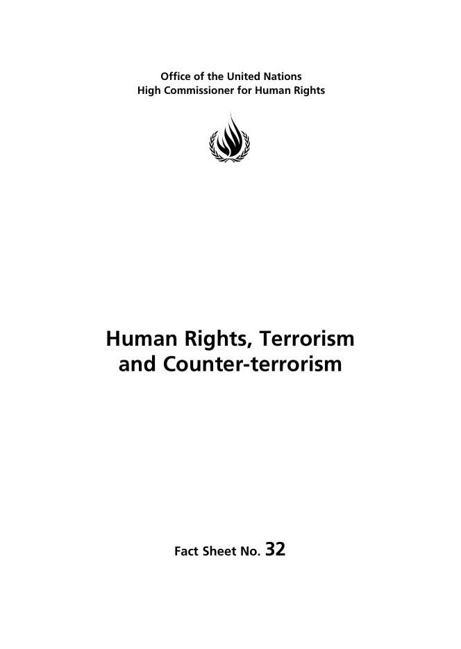 حقوق بشر، تروریسم و مقابله با تروریسم