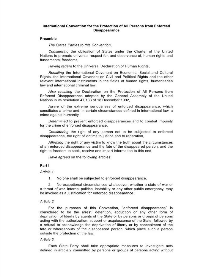 کنوانسیون بینالمللی حمایت از تمامی اشخاص در برابر ناپدیدشدن اجباری