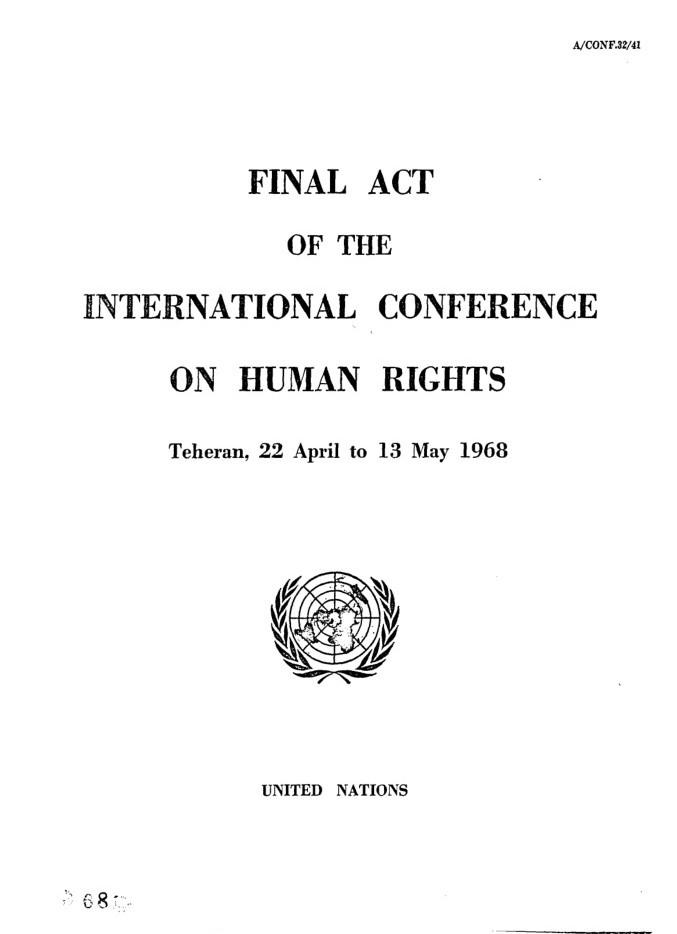 اعلامیه کنفرانس بینالمللی حقوق بشر تهران