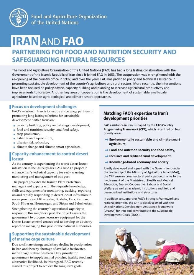 FAO in the Islamic Republic of Iran Factsheet