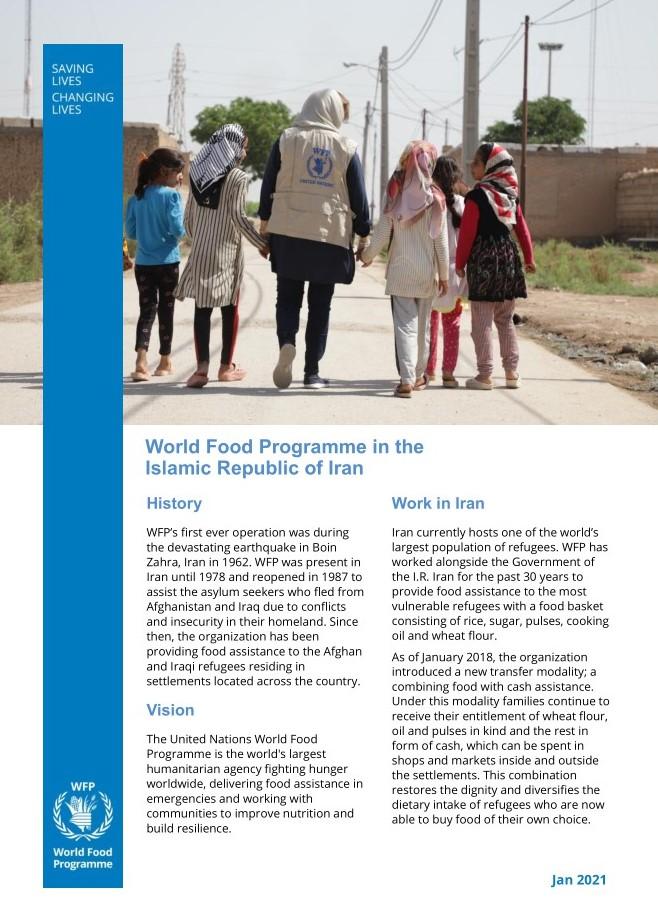 WFP in the Islamic Republic of Iran Factsheet
