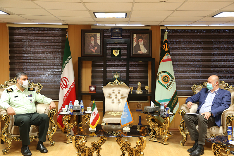 UNODC Iran Country Representative met with the Head of ANP of the Islamic Republic of Iran
