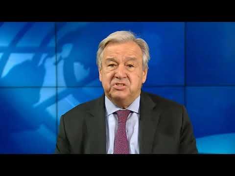 پیام آنتونیو گوترش دبیر کل سازمان ملل متحد به مناسبت سال نو میلادی ۲۰۲۱